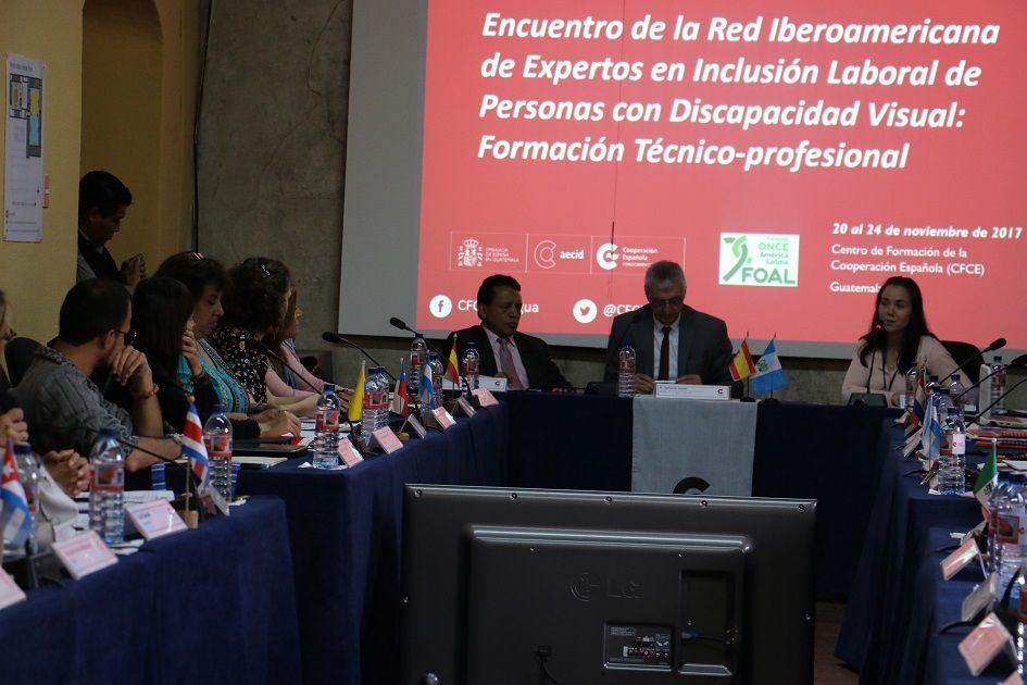 Participamos del encuentro de Expertos en Inclusión Laboral de Personas con Discapacidad  Visual en Guatemala