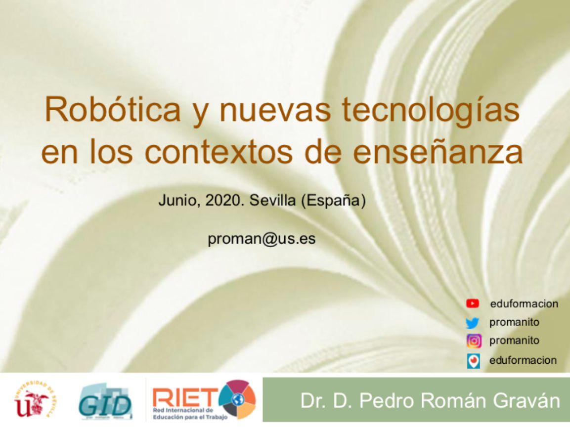 Presentación: Robótica y nuevas tecnologías en los contextos de enseñanza